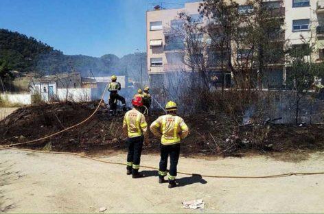Tercer incendio de vegetación en la Garriga en menos de dos semanas