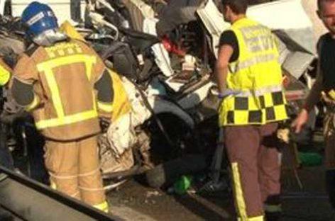 Un vecino de Montcada fallece en un accidente múltiple en Lleida
