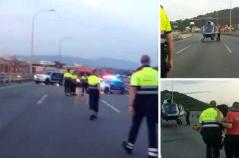Los Mossos evacuan una conductora que sufrió un ictus en la Llagosta