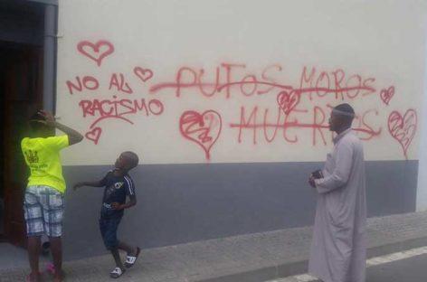 Pintadas antimusulmanas contra la mezquita de Sant Celoni