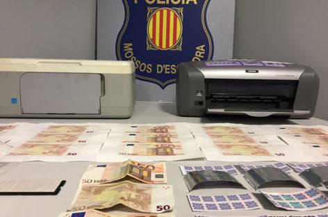 Cinco detenidos en Granollers por falsificar billetes de 50 euros de forma artesanal