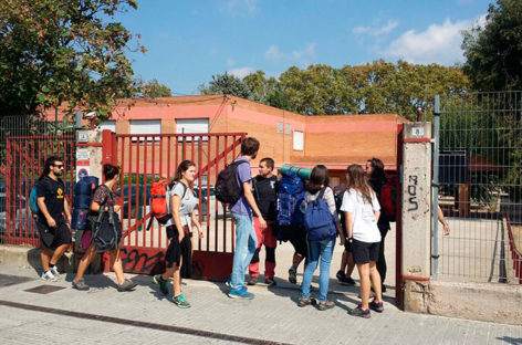 Los Mossos no abortan la primera ocupación de un instituto en la comarca por parte de un grupo independentista