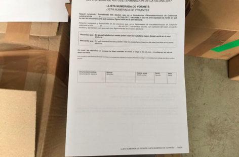 La Guardia Civil deja en libertad y acusa de sedición al empresario de Bigues i Riells detenido por imprimir las papeletas del 1-O