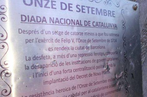 Vandalismo contra el monumento al Onze de Setembre de Les Franqueses