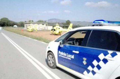 Un muerto y dos heridos graves en un choque entre dos turismos en Les Franqueses