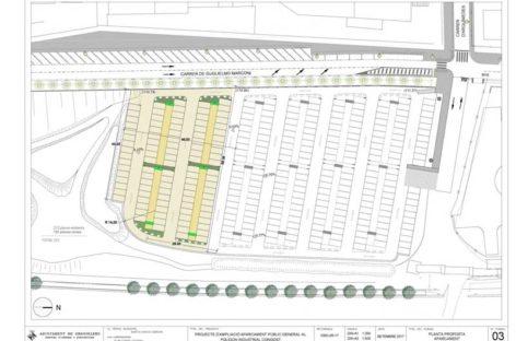 Amplían el aparcamiento del polígono Congost en 100 plazas y proyectan al lado una zona de pícnic