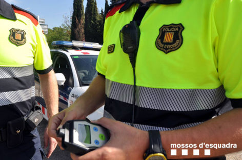 Detenido un hombre en Vallromanes tras provocar un accidente conduciendo bebido y sin permiso