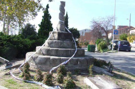 Detenidos dos jóvenes en Cardedeu que destrozaron la Creu de Terme practicando parkour