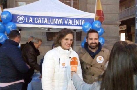 La candidata del PPC Esperanza García visita Granollers