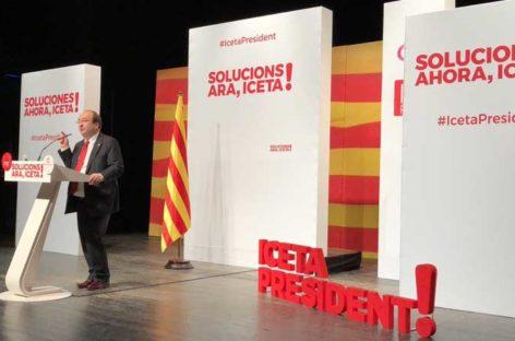 Iceta llena el Teatro de Can Palots de Canovelles en el acto central del PSC en la comarca