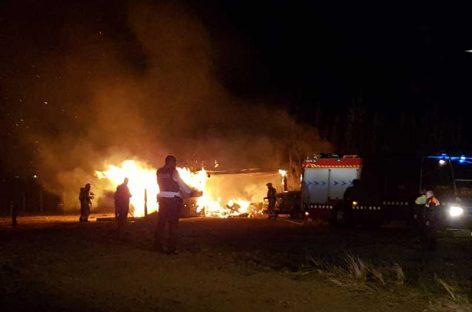 Incendio en un taller clandestino entre Canovelles y Granollers
