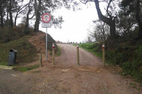 Cortan el camí de la Serreta de Cardedeu a los vehículos a motor a petición de los vecinos