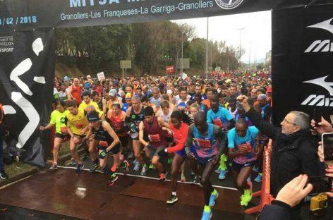 La lluvia y la polémica política deslucen una Mitja Marató que volvió a estar dominada por los kenianos