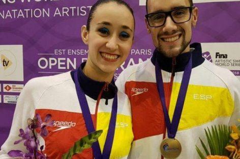 Pau Ribes y Berta Ferreras, del Club Natació Les Franqueses, bronce en el French Open 2018