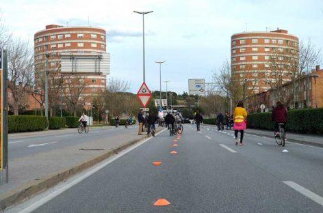 Doscientas personas ocupan durante tres horas la Ronda Sud de Granollers