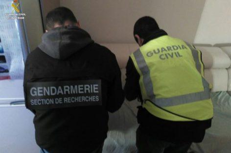 Guardia Civil y Gendarmerie desmantelan una banda internacional de tráfico de marihuana que operaba en Sant Antoni de Vilamajor