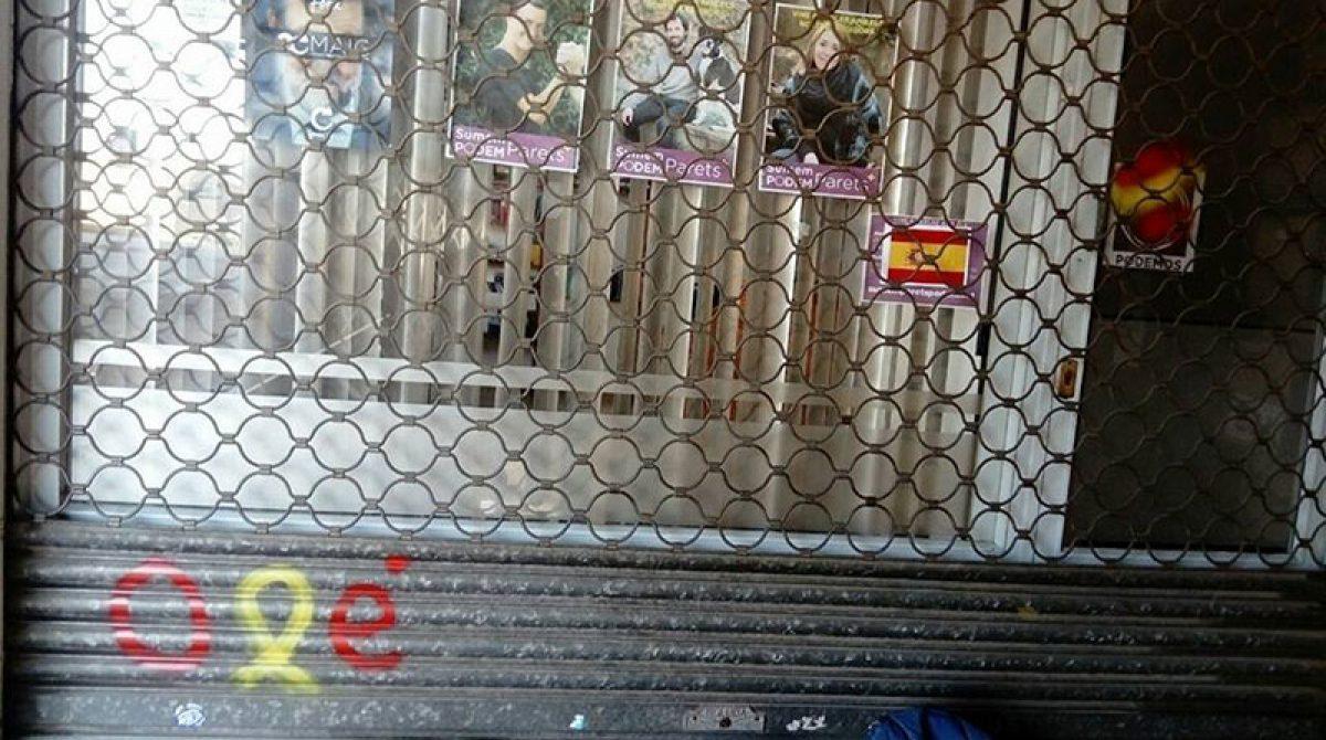 Pintadas contra las sedes locales de Podem y de ERC de Parets
