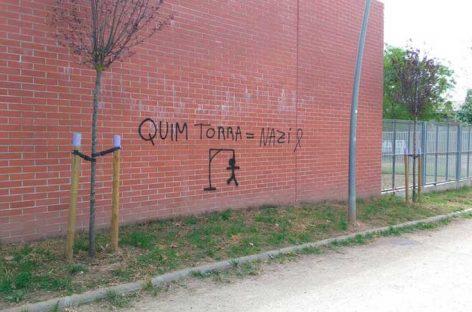 Aparecen pintadas amenazadoras contra el presidente de la Generalitat en una escuela de Granollers