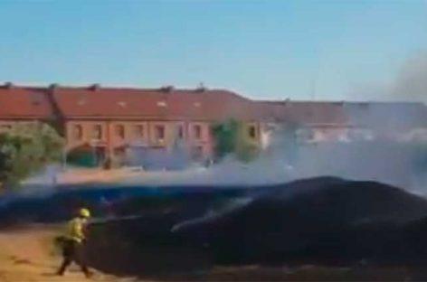 Un petardo provoca un incendio de vegetación en la Garriga