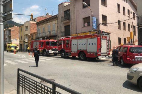 Un herido leve en un incendio en una cocina de una casa de la Garriga