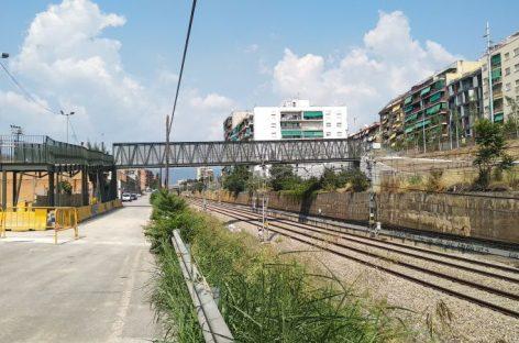 La nueva pasarela para peatones sobre la vía del tren en Granollers se podrá utilizar a partir del sábado