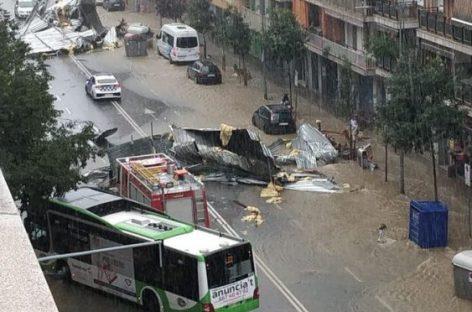 Una fuerte tormenta provoca el caos en el centro de Granollers