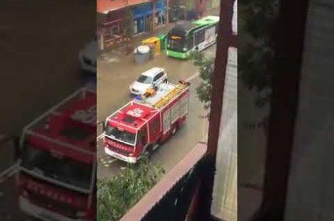 Video: Video de los daños provocados por la caída de un techo en la Avinguda Sant Esteve de Granollers