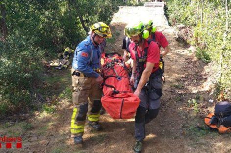 Un joven ciclista de 15 años rescatado en la Garriga tras accidentarse