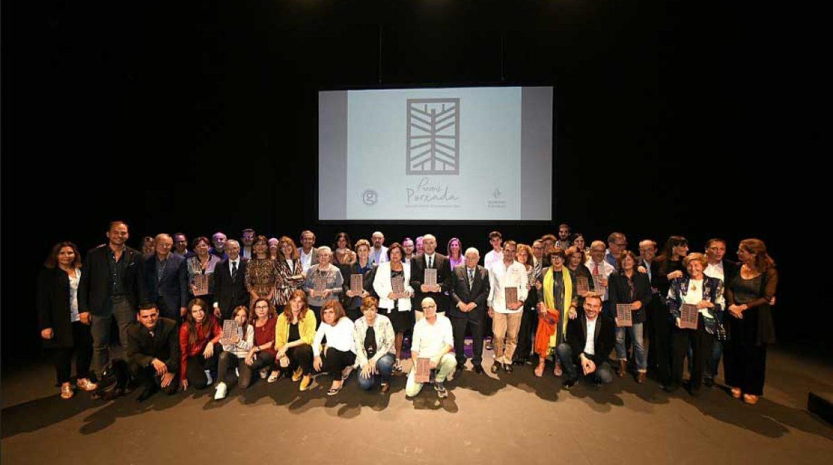 La gala d'entrega dels premis Porxada al comerç omple el Teatre Auditori de Granollers
