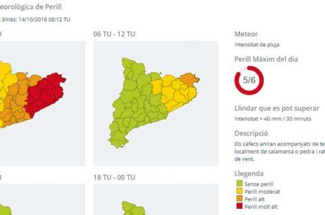 Protecció Civil activa el Plan de Emergencias por Inundaciones en todo el Vallès Oriental por fuertes lluvias