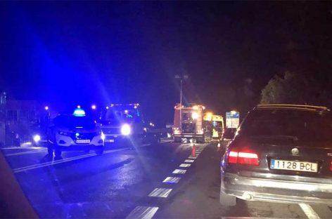 Un herido crítico en un accidente entre tres coches en la C-59, en Palau-solità