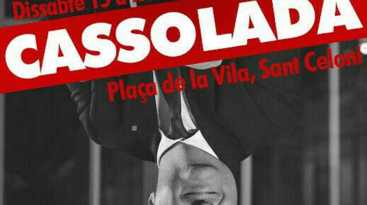 Escrache de los CDR a Miquel Iceta en un acto del PSC en Sant Celoni