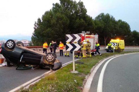 Dos accidentes en el Coll de la Manya de Granollers dificultaron el tráfico este domingo