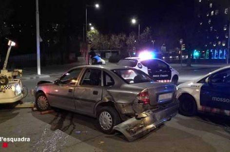 Tres detenidos tras atracar un banco en Sant Fost y una persecución que acabó con tres Mossos heridos