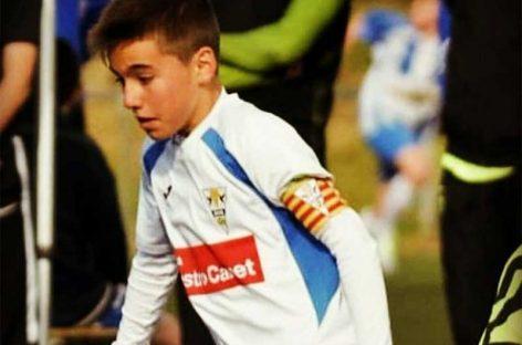 Consternación en el mundo del fútbol por la muerte del infantil del EC Granollers Àlex Parera
