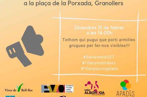 Los Centros de discapacitados del Vallès  se manifiestan en Granollers en contra del olvido de la administración