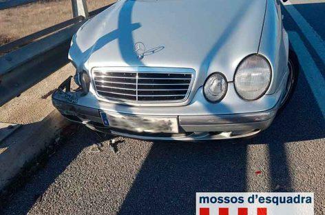 Detenido un vecino de Santa Perpètua tras conducir y estrellar un vehículo que había robado en Mollet