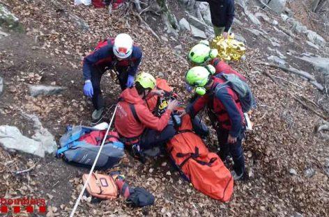 Rescatado en el Montseny un excursionista que se accidentó gravemente