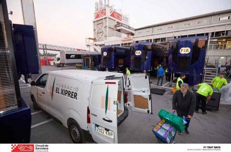 El Circuit dona una tonelada de alimentos a El Xiprer de Granollers