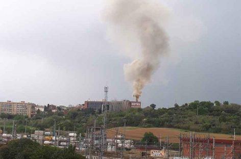 Un incendio afecta al Hotel Ciutat de Granollers