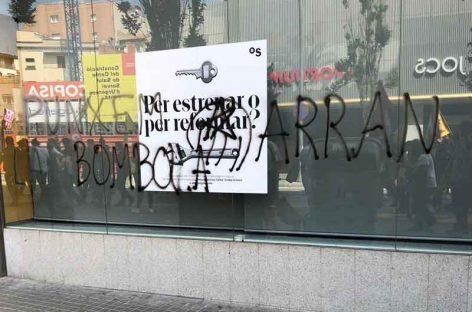 Arran inicia una campaña de ataques contra las entidades bancarias de Granollers