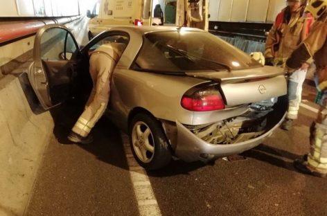 Dos heridos en un choque en el interior del túnel de la Ronda Nord en Les Franqueses