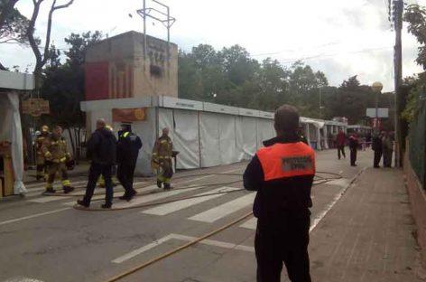 Un incendio en un transformador deja sin electricidad la Fira de Cardedeu