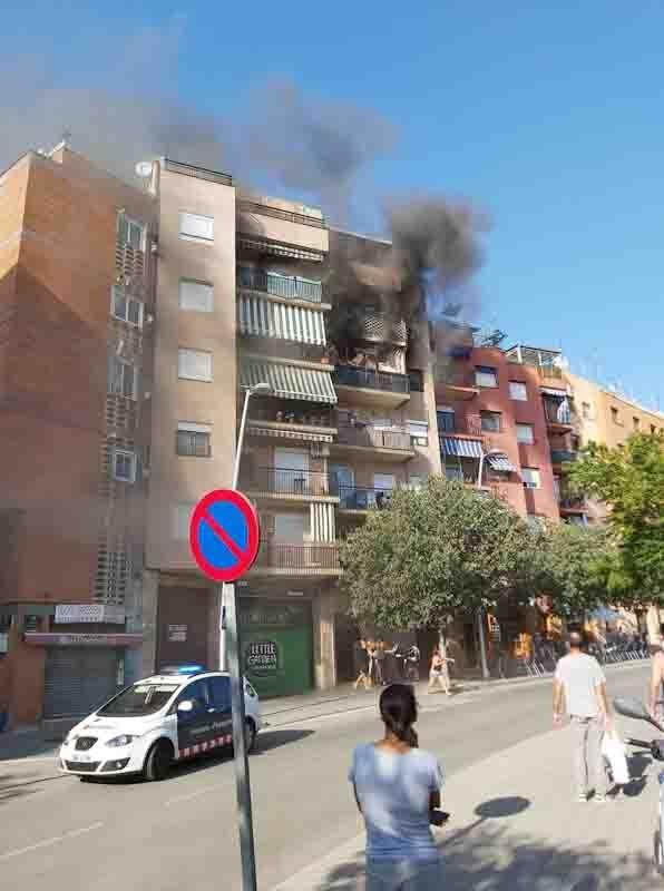tres niñas del valles Occidental incendian el piso de una persona de la tercera edad